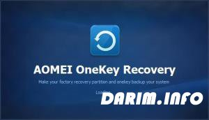 AOMEI OneKey Recovery Professional 1.6.1